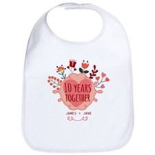 Personalized 10th Anniversary Bib