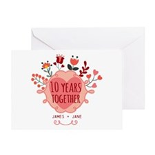 Personalized 10th Anniversary Greeting Card