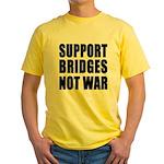 Support Bridges Not WAR Yellow T-Shirt