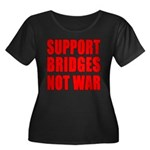 Support Bridges Not WAR Women's Plus Size Scoop Ne