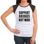Support Bridges Not WAR Women's Cap Sleeve T-Shirt