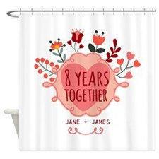 Personalized 8th Anniversary Shower Curtain