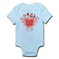 Personalized 8th Anniversary Infant Bodysuit