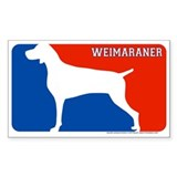&quot;Weimaraner&quot; MLD Rectangle Decal