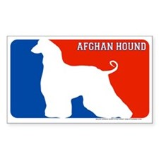 """Afgan Hound"" MLD Rectangle Decal"