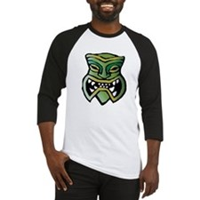 Green Tiki Head Baseball Jersey