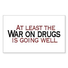 War on Drugs Rectangle Decal