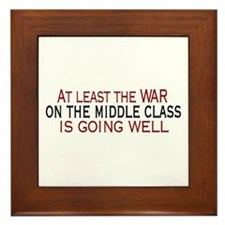 War on Middle Class Framed Tile