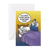 Calling in Sick - Greeting Card