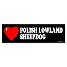 POLISH LOWLAND SHEEPDOG Bumper Bumper Sticker