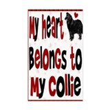 """My heart belongs to my Collie!"" Sticker (Rectangu"