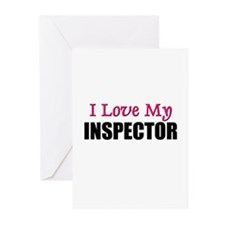 I Love My INSPECTOR Greeting Cards (Pk of 10)