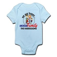 Personalized American Family Infant Bodysuit