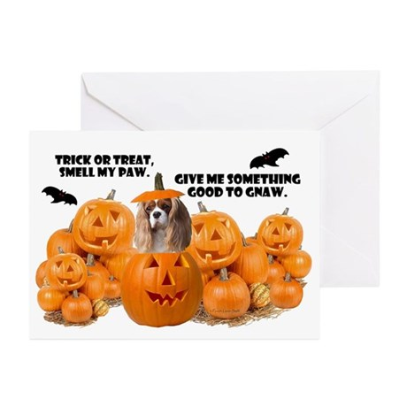 Trick Or Treat (Cavalier) Greeting Cards (Pk of 10