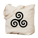 Triskele Symbol (Triple Spiral) Tote Bag