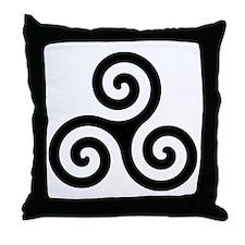 Triskele Symbol (Triple Spiral) Throw Pillow