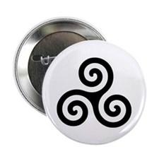 "Triskele Symbol (Triple Spiral) 2.25"" Button (100"