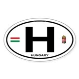 Hungary Euro Oval Oval Decal