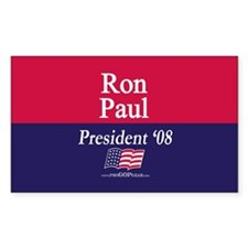 """Ron Paul for President"" Rectangle Decal"