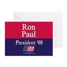 """Ron Paul for President"" Greeting Cards (10)"