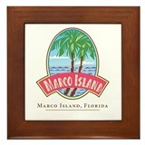 Retro Marco Island -  Framed Tile