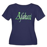 Afakasi Women's Plus Size Scoop Neck Dark T-Shirt