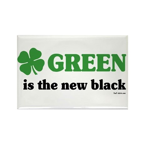 Green is the new black Rectangle Magnet (10 pack)