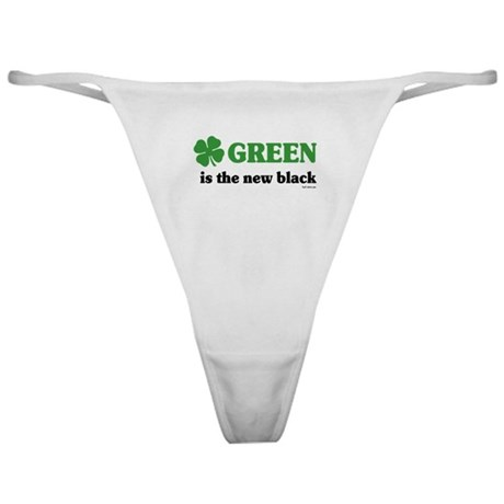 Green is the new black Classic Thong