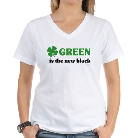 Green is the new black Women's V-Neck T-Shirt