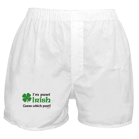 I'm Part Irish Boxer Shorts