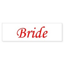 Bride Bumper Stickers