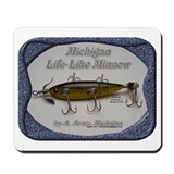 Michigan Lifelike Minnow Mousepad