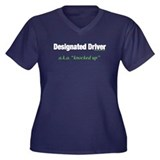Designated Driver Women's Plus Size V-Neck Dark T-