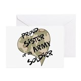 Proud sister Army soldier Greeting Cards (Pk of 20