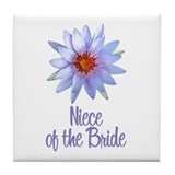 Lotus Bride's Niece Tile Coaster