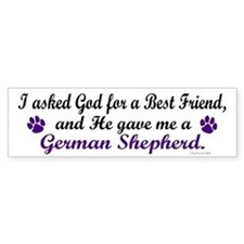 God Gave Me A German Shepherd Bumper Car Sticker