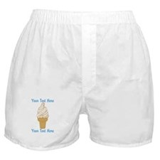 Personalized Ice Cream Cone Boxer Shorts