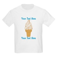 Personalized Ice Cream Cone T-Shirt