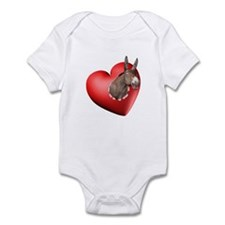 Donkey Heart Infant Bodysuit