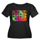 &quot;Mosaic&quot; Fractal Art Women's Plus Size Scoop Neck