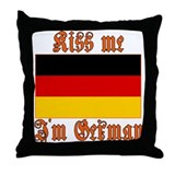 Kiss Me I'm German Throw Pillow