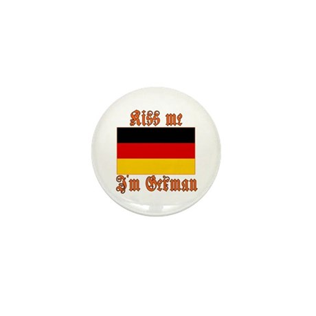 Kiss Me I'm German Mini Button (10 pack)