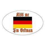 Kiss Me I'm German Oval Decal