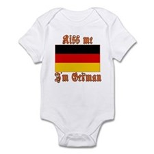 Kiss Me I'm German Infant Bodysuit