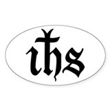 IHS Jesus Monogram Oval Bumper Stickers