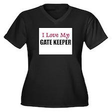 I Love My GATE KEEPER Women's Plus Size V-Neck Dar