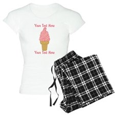 Personalized Pink Ice Cream Pajamas