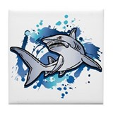 SHARK TAIL Tile Coaster