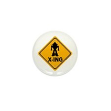 Robot X-ing Mini Button (10 pack)