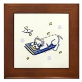 Book Geek Westie Framed Tile